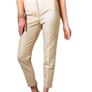 TALBOTS Signature Pants Gold Metallic Size 10P